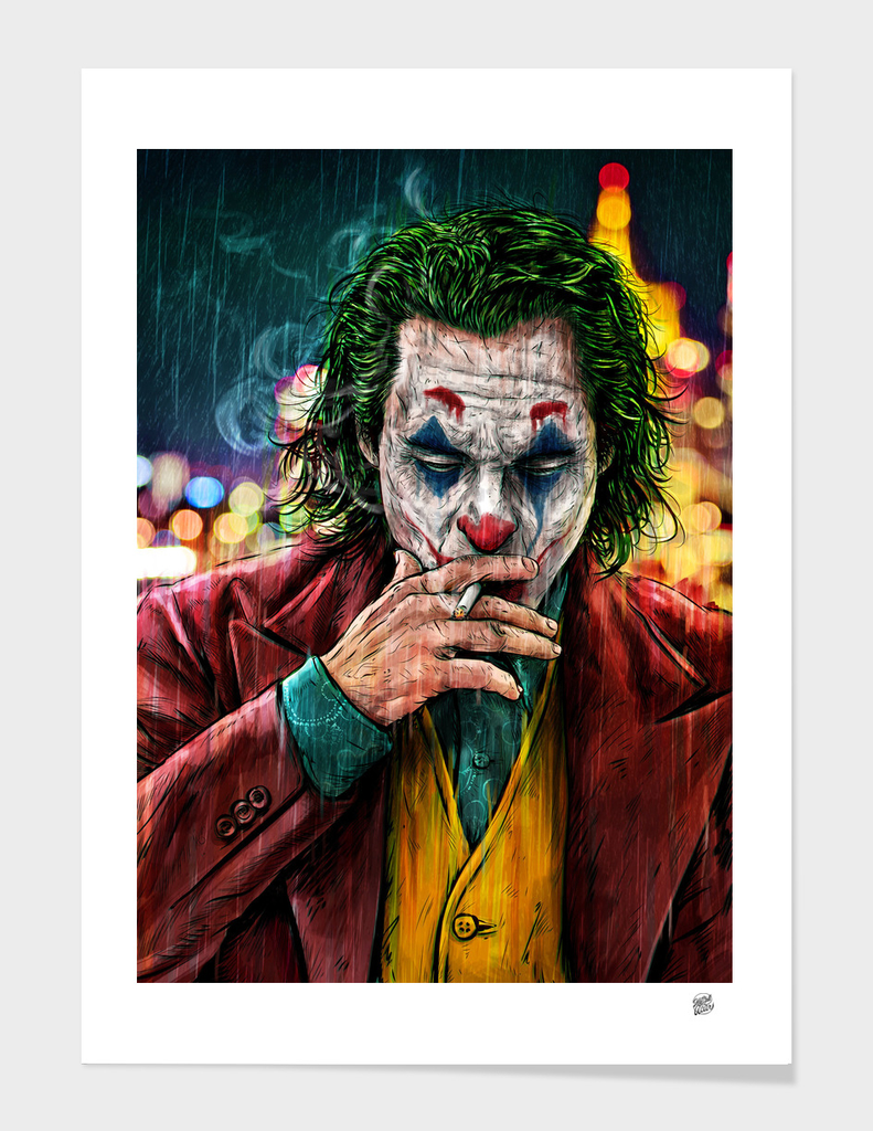 High Res Available Framed Archival Heavyweight Print THE JOKER POP ART