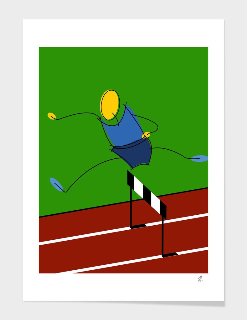 athletes art illustration