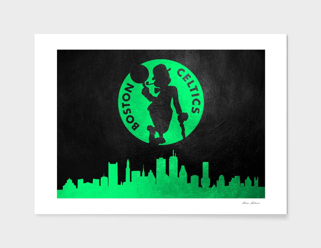 Boston Celtics Skyline