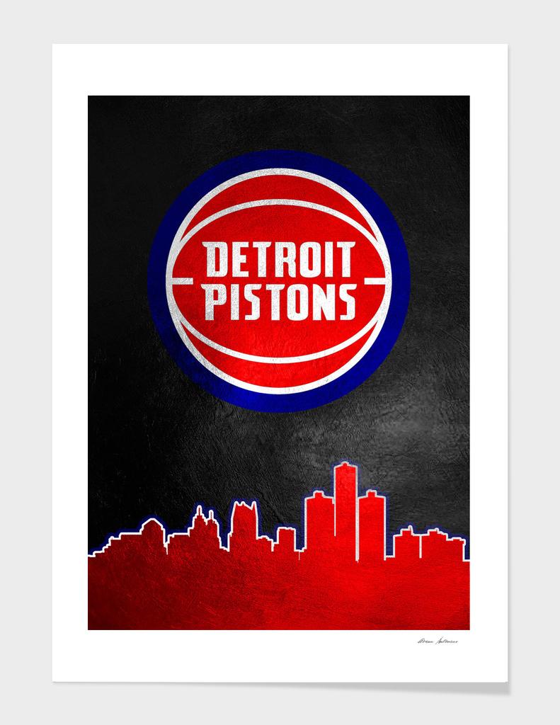Detroit Pistons Skyline