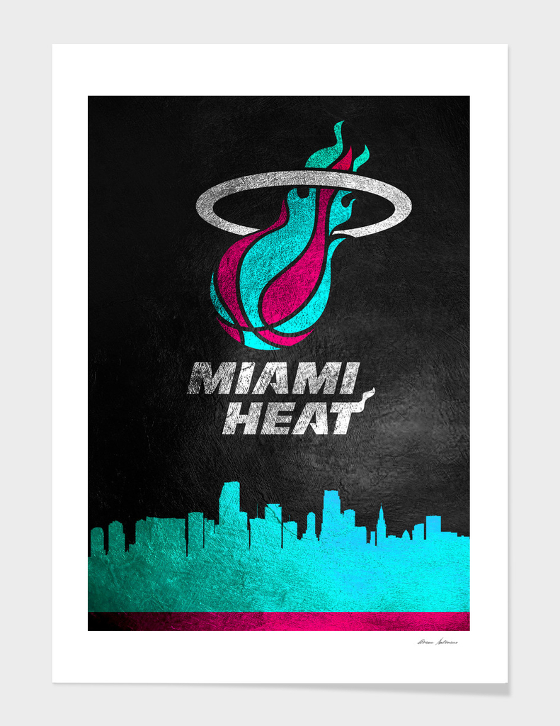 Miami Heat Vice Skyline