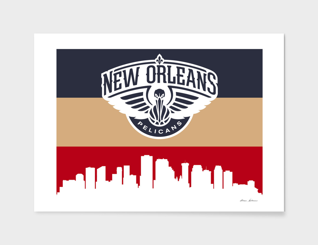 New Orleans Pelicans Skyline 4