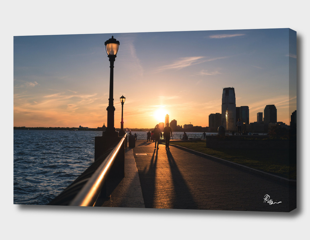 Sunset in Battery Park