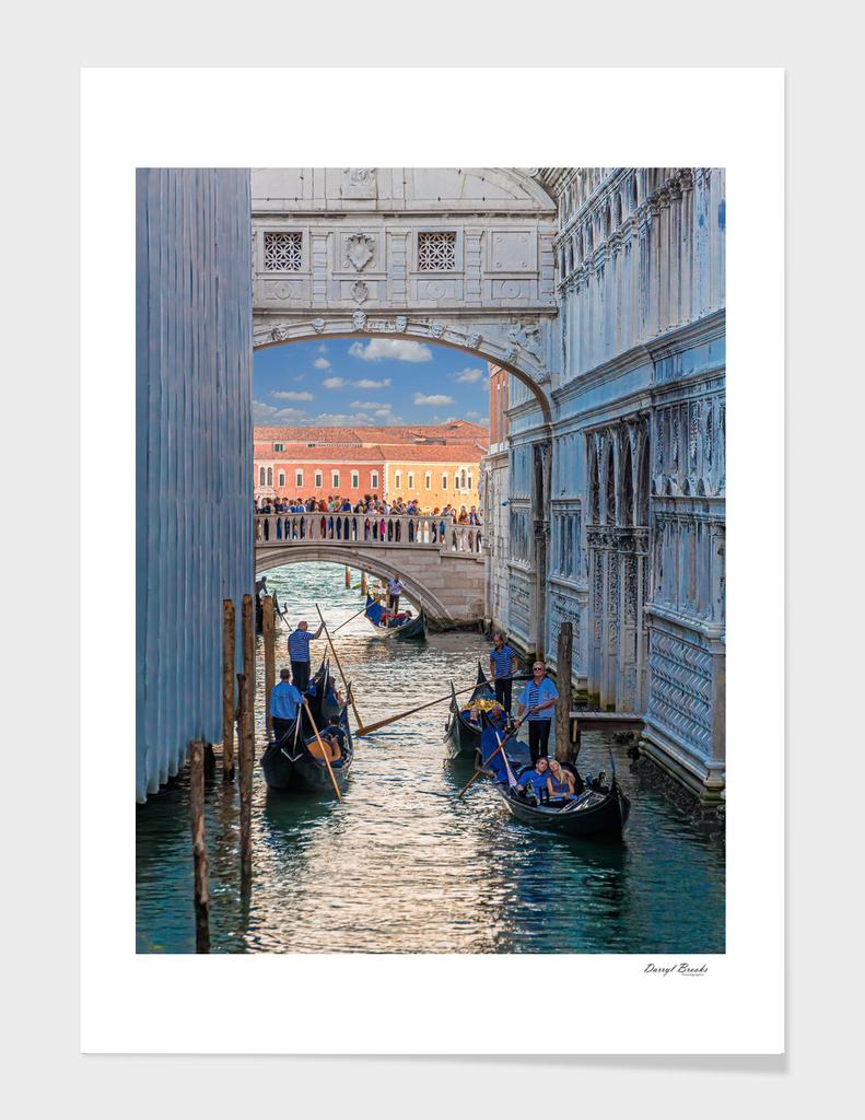 Gondolas Into Grand Canal