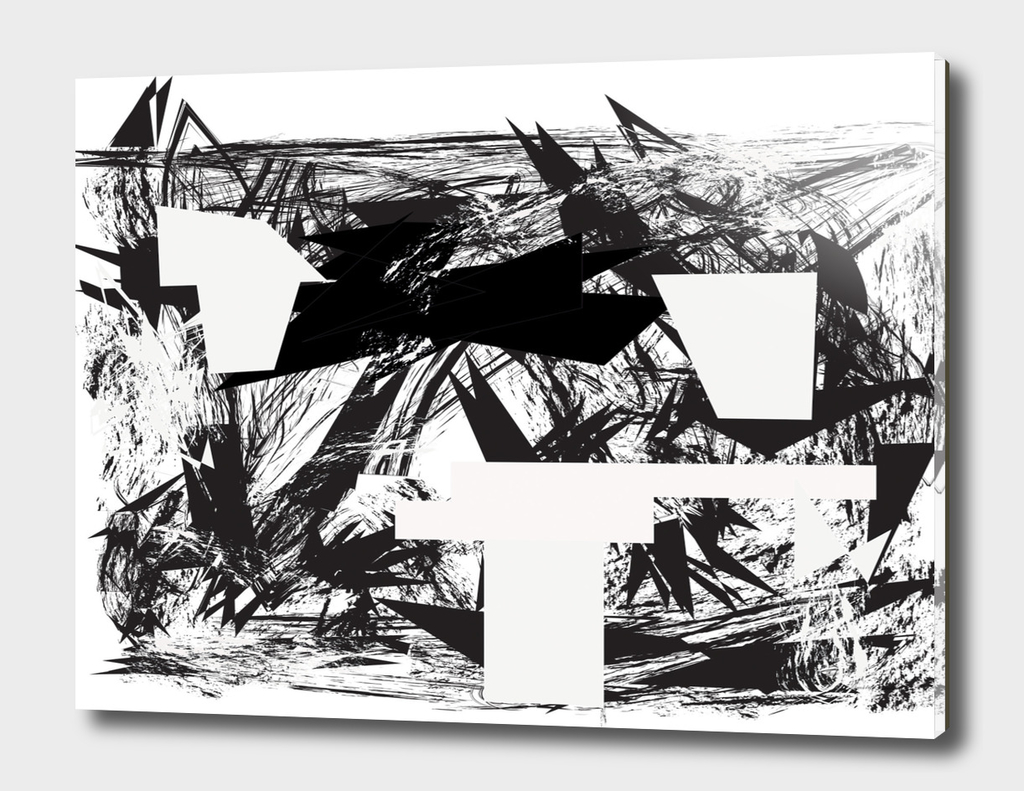 Abstract white rectangles in black