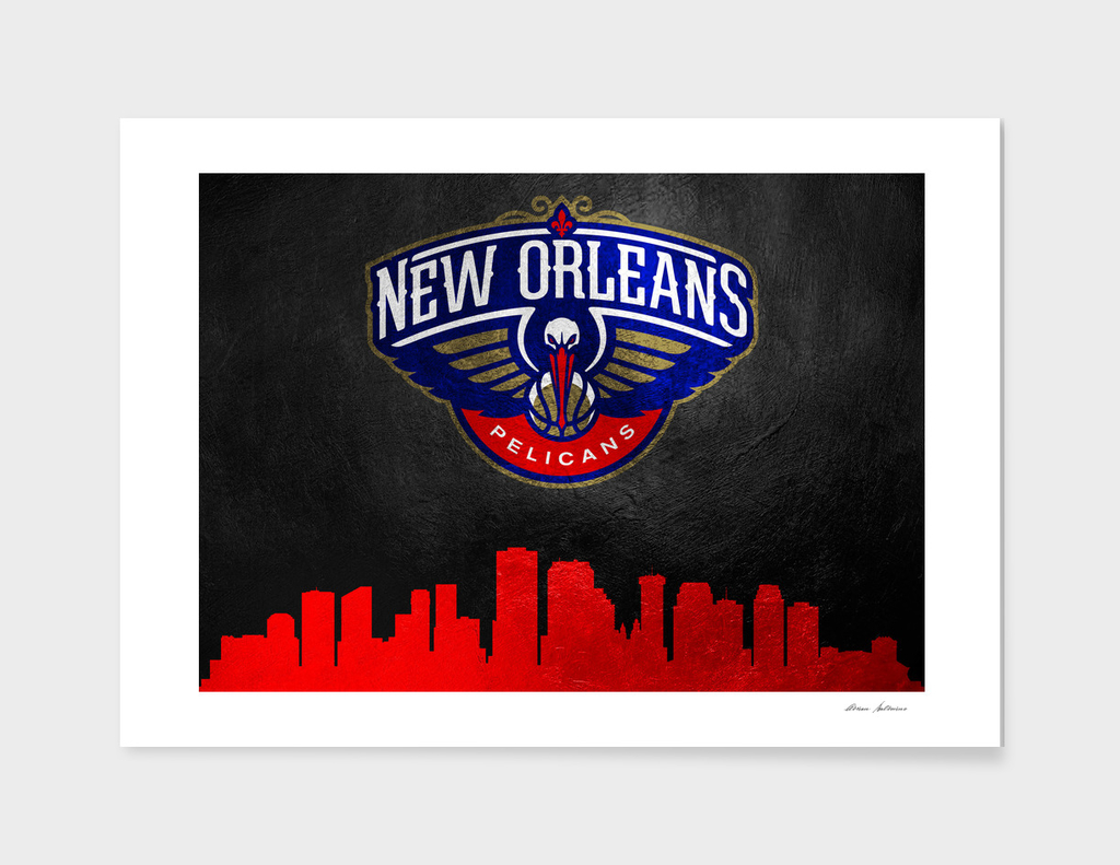 New Orleans Pelicans Skyline