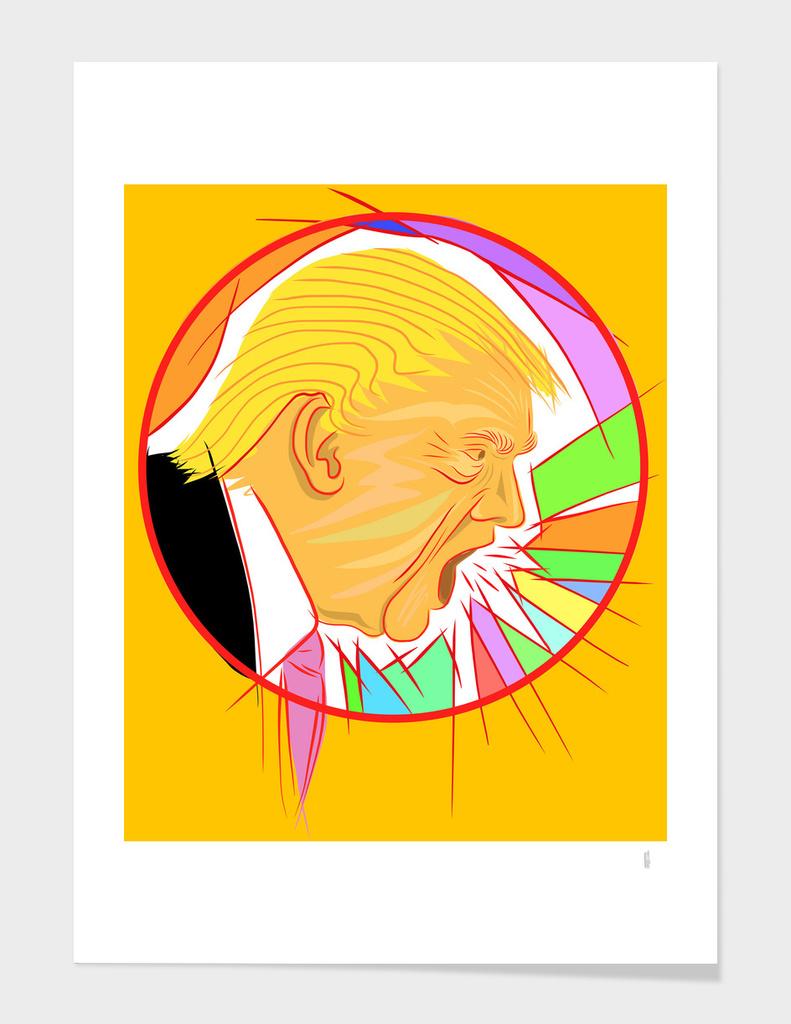 Trump spouting words
