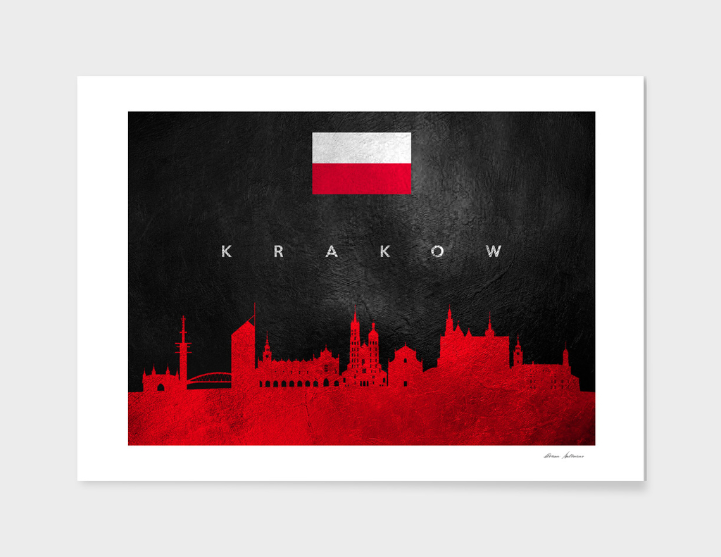 Krakow Poland Skyline