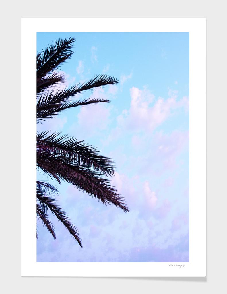 Palm Leaves Pastel Clouds #1 #decor #art