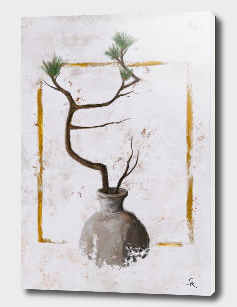 Ikebana No.1 Gold Frame