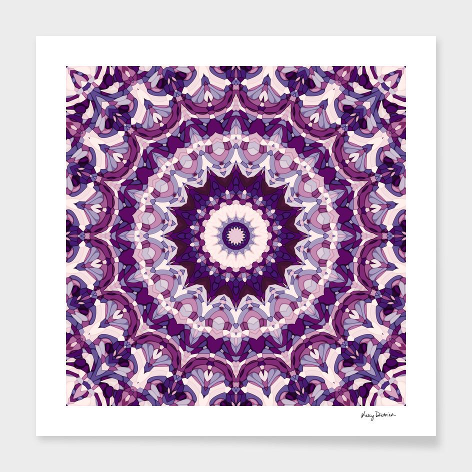 Luminous Purple Mandala