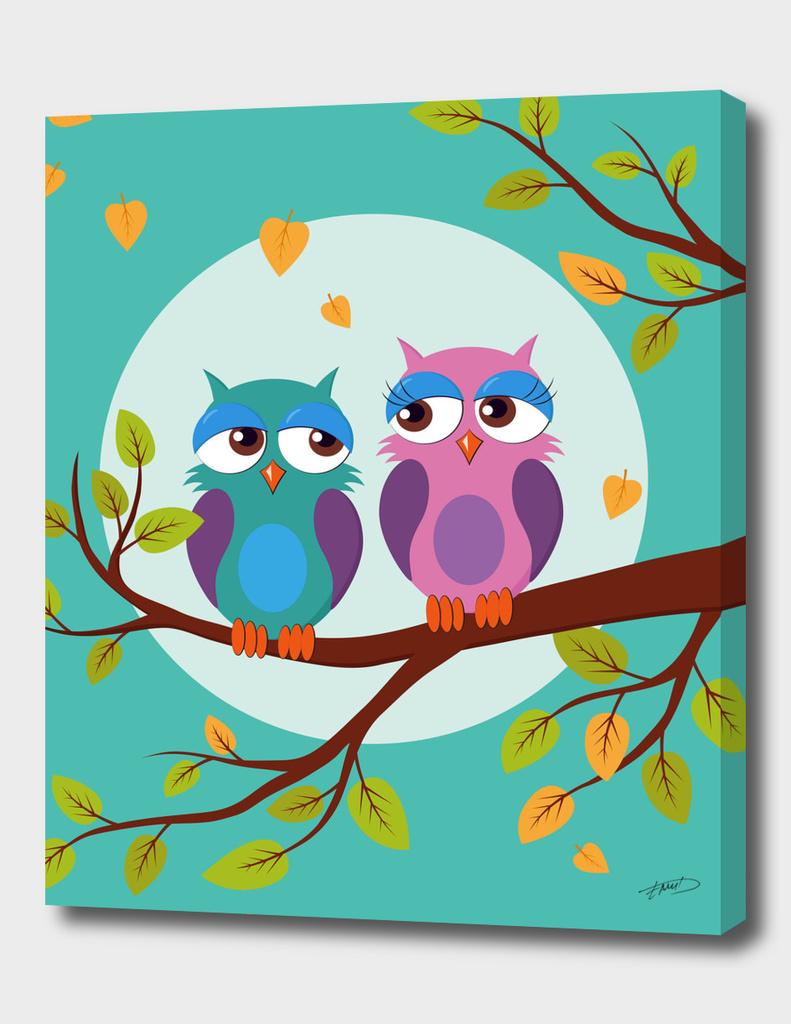 Autumn love owls