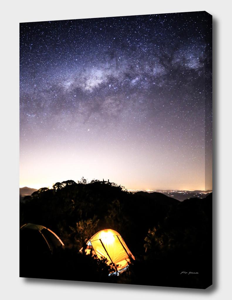 Stargaze Camping Night