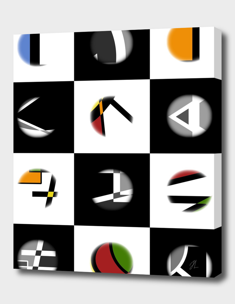 Black and White check design