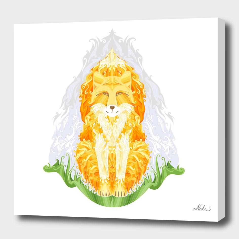 Spirit of autumn. Fire fox