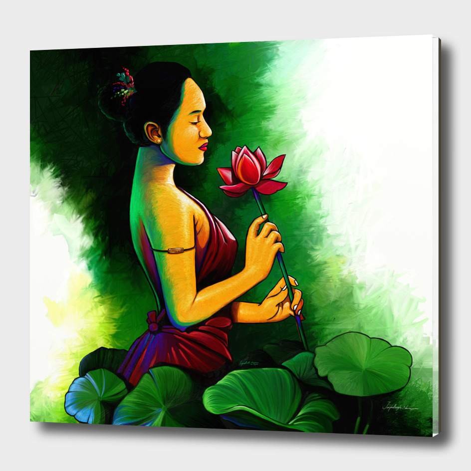 LADY WITH LOTUS