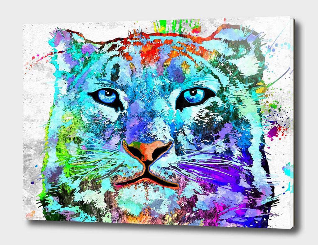 Snow Leopard Grunge