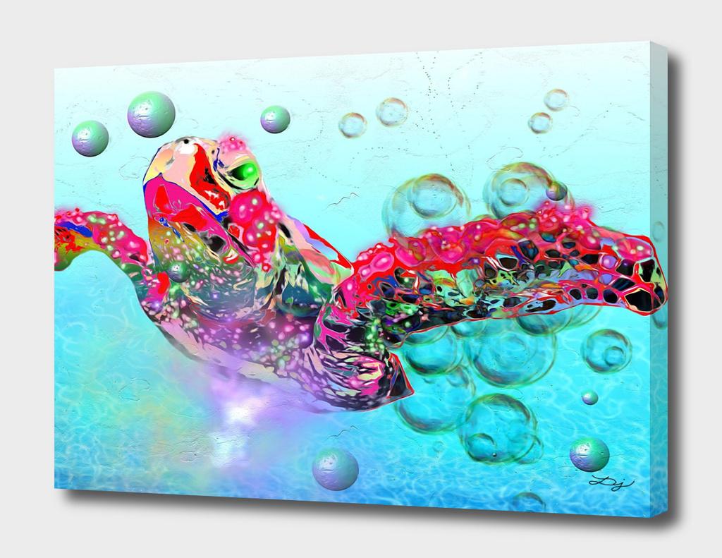 Sea Turtle Painted