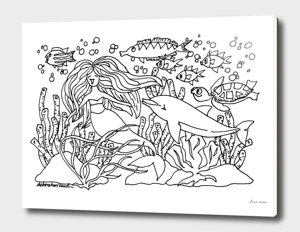 Mermaid Magic Coloring page