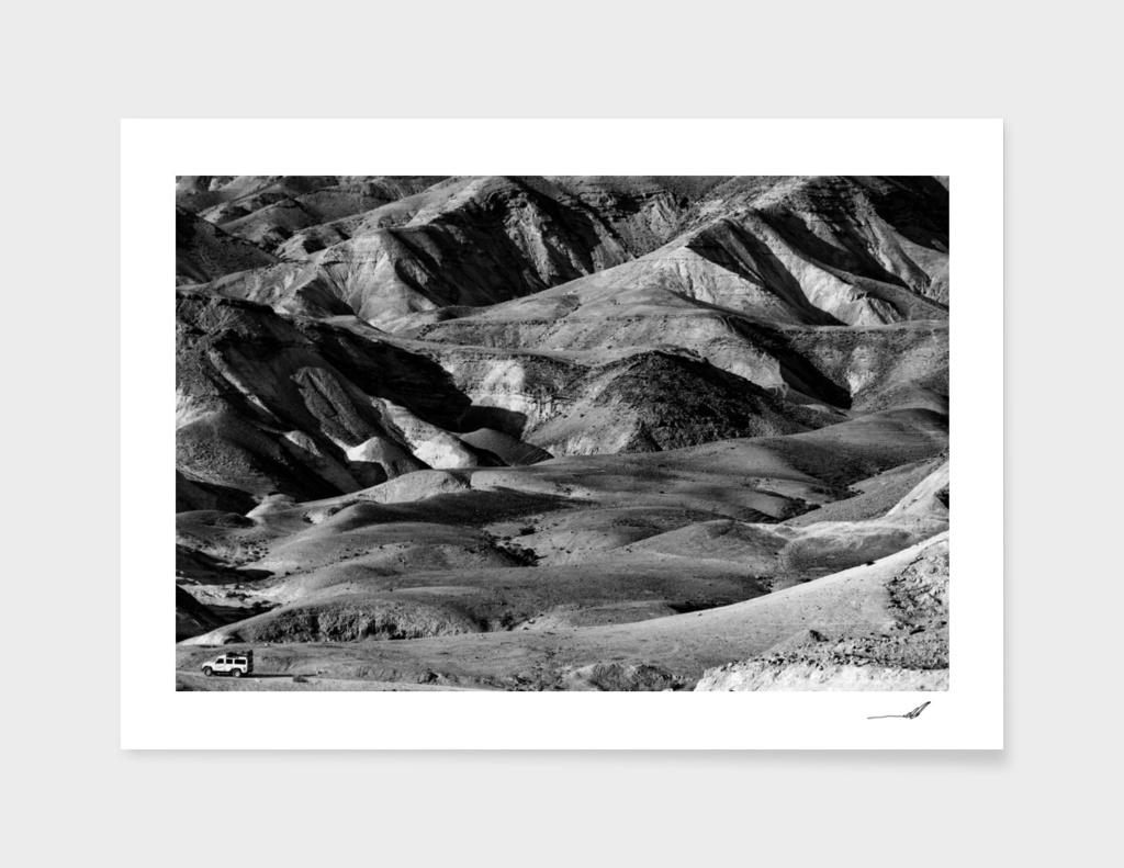 Driving across the Judean Desert