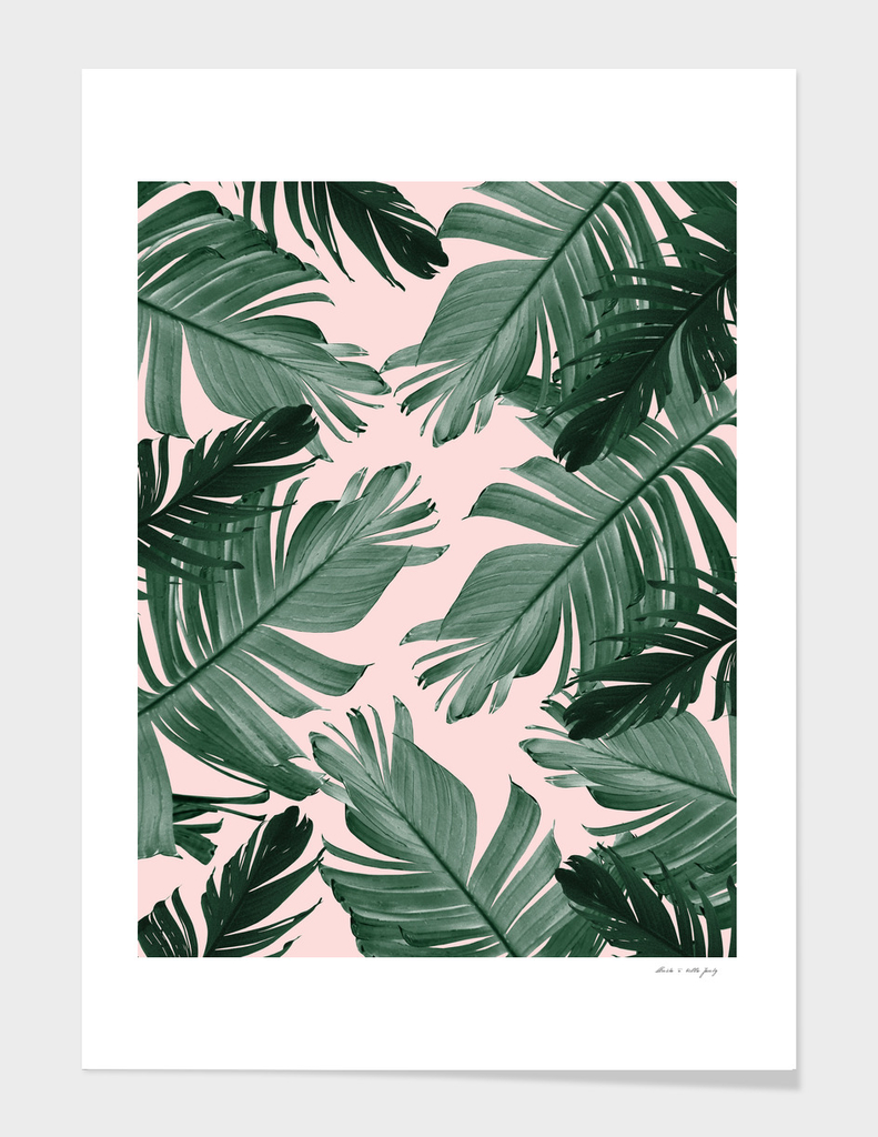 Tropical Banana Leaves Pattern #2 #tropical #decor #art