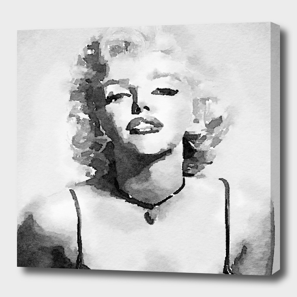 Marilyn Monroe watercolor painting