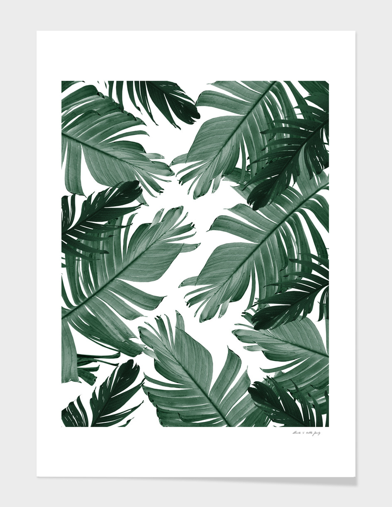 Tropical Banana Leaves Pattern #3 #tropical #decor #art