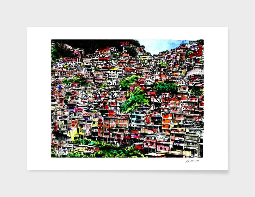 Caracas's Barrio (color)