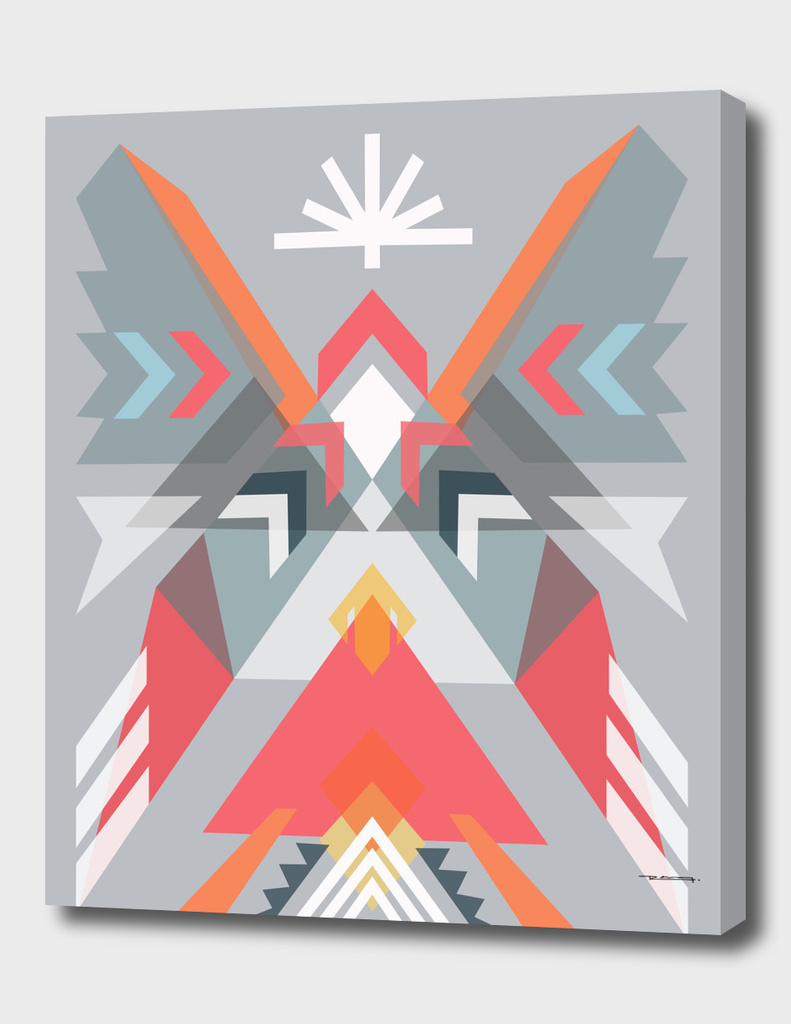 Abstract geometric indian symbol