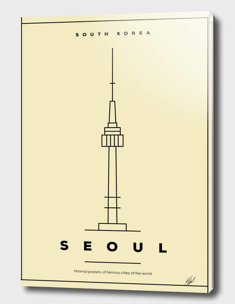Minimal Seoul City Poster