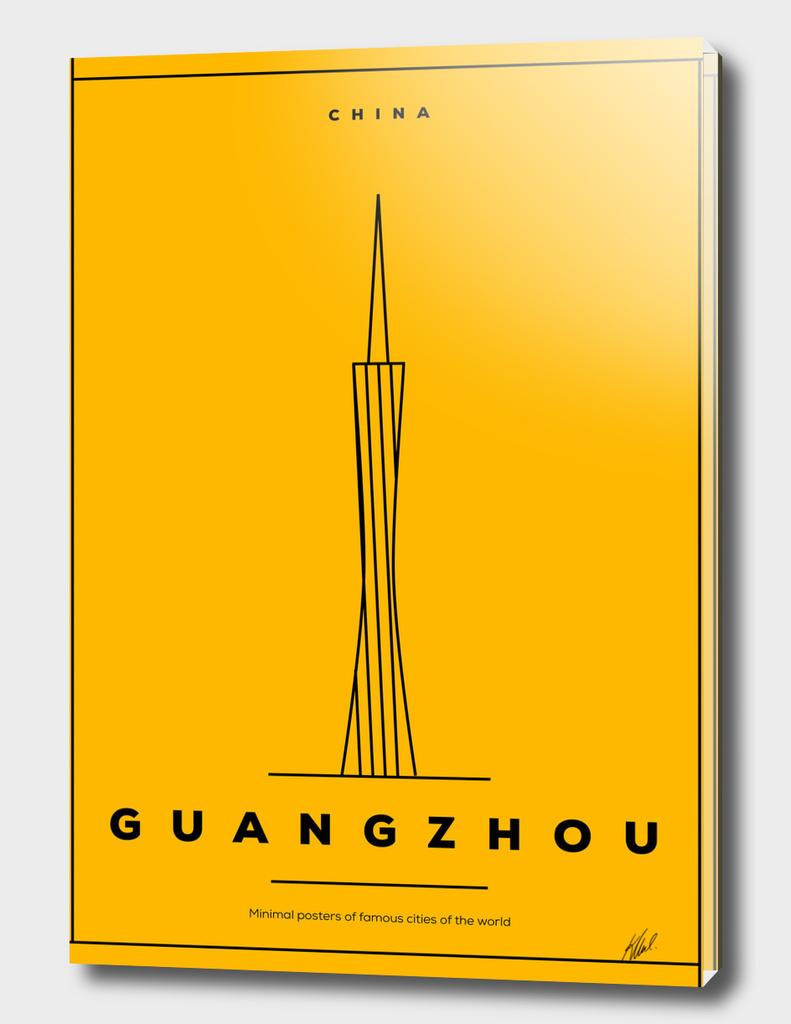 Minimal Guangzhou City Poster