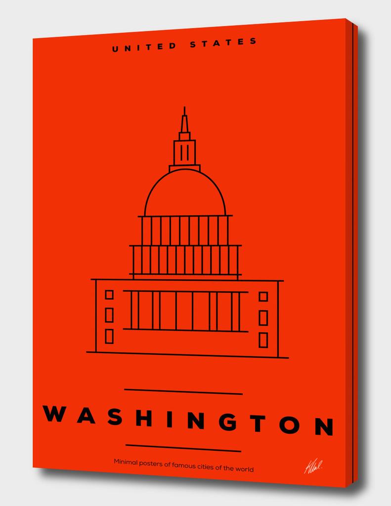 Minimal Washington DC City Poster