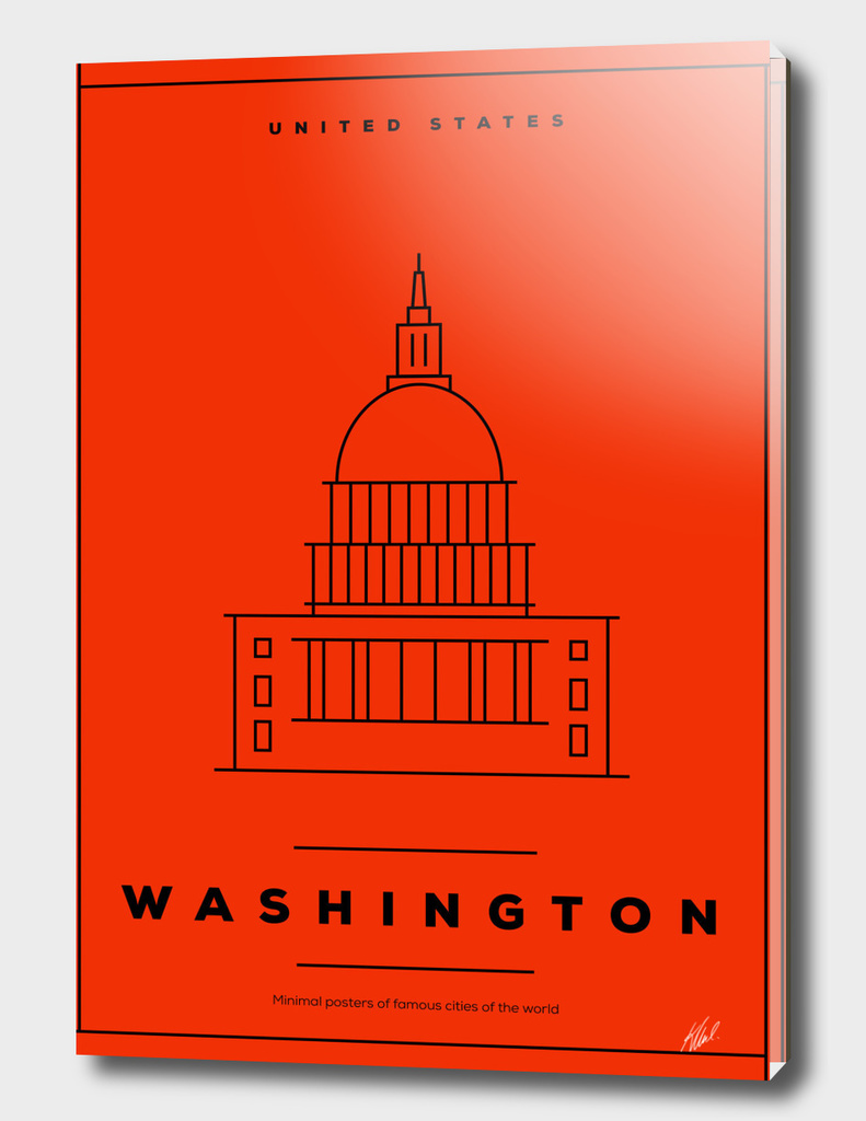 Minimal Washington DC City Poster