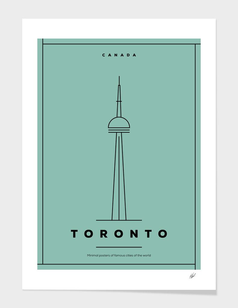 Minimal Toronto City Poster