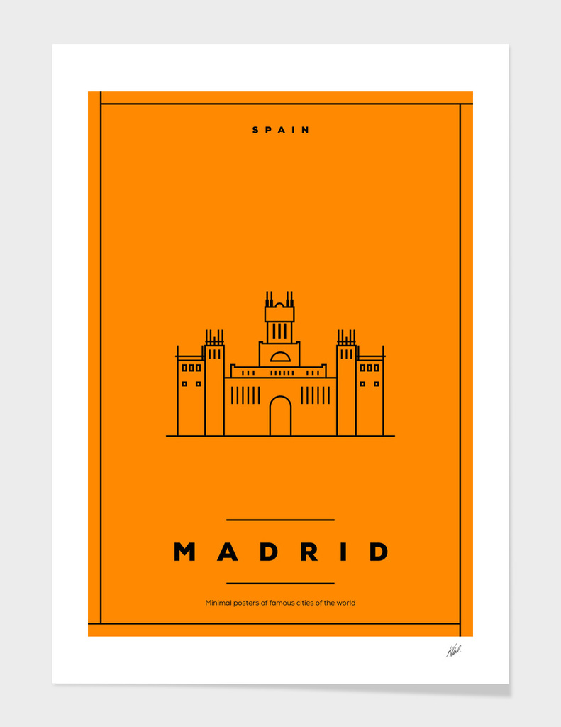 Minimal Madrid City Poster