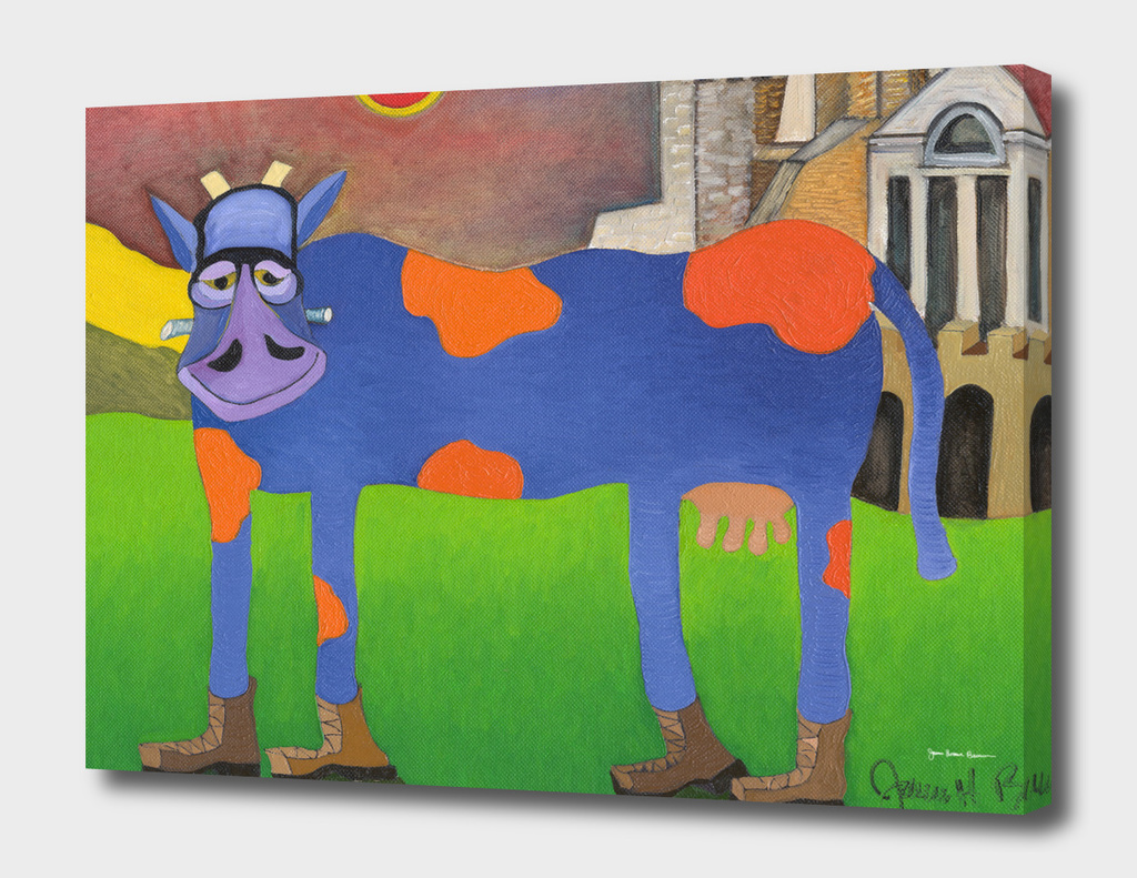 Udderly Frank - Frankenstein Cow Art