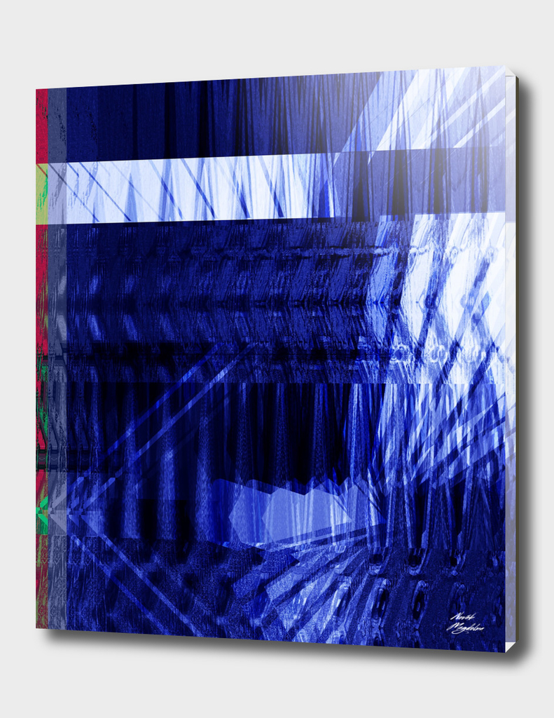 fake blue glass