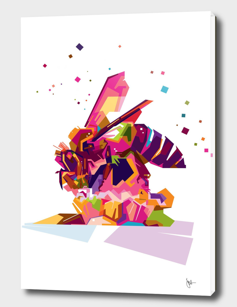 Bee Wpap Art