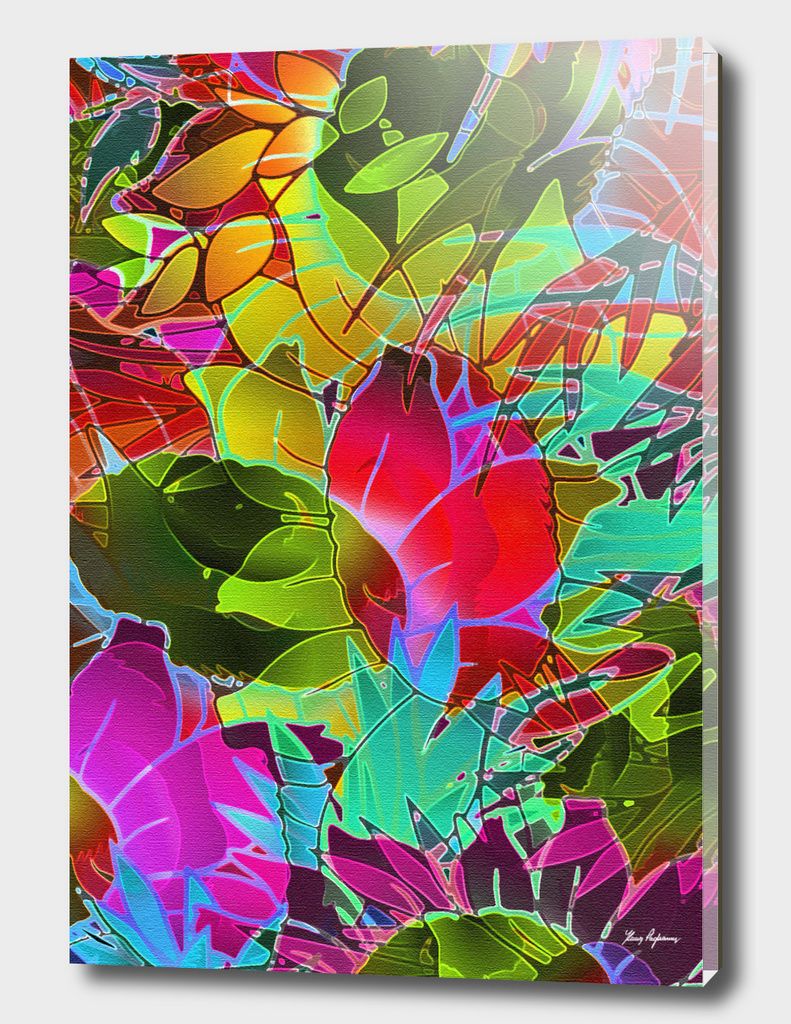 Floral Abstract Artwork G125