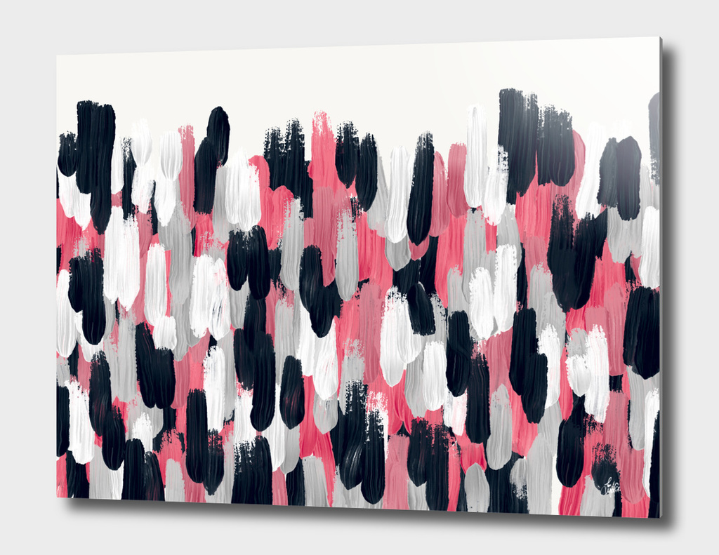 Pink, Blue, and Gray Brushstrokes