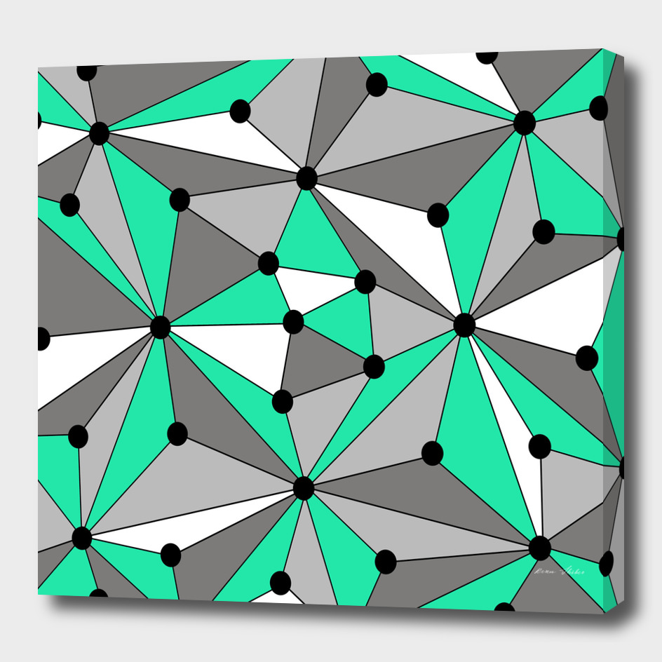 Abstract geometric pattern - gray and green.