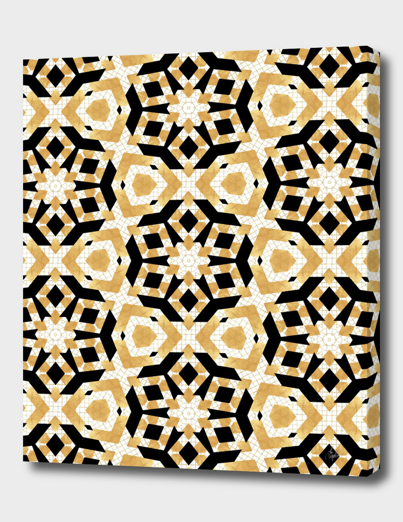Art Deco Gold Foil Star Pattern II