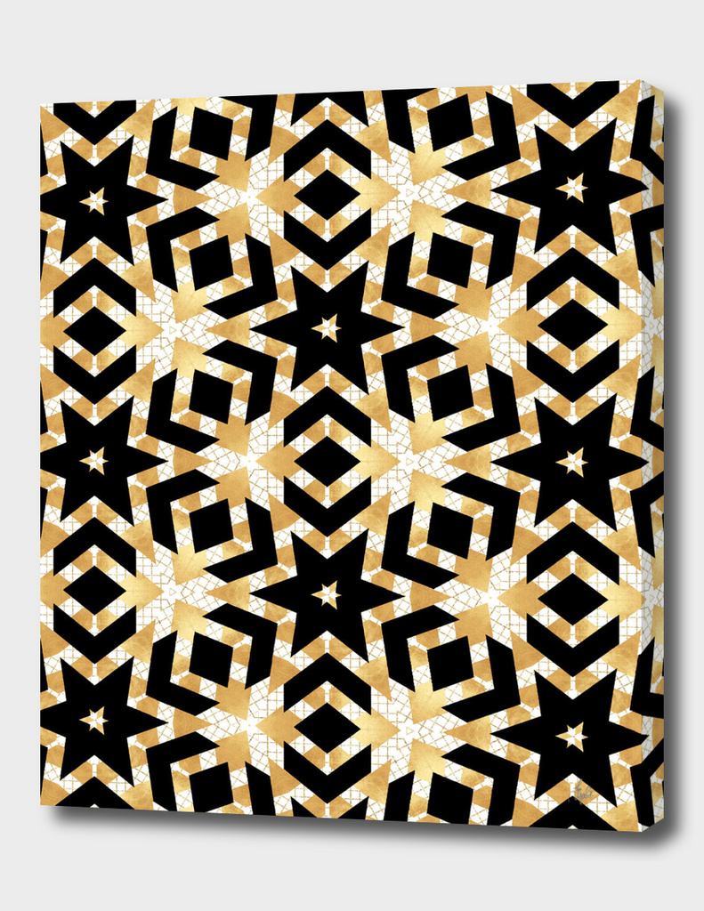 Art Deco Gold Foil Star Pattern