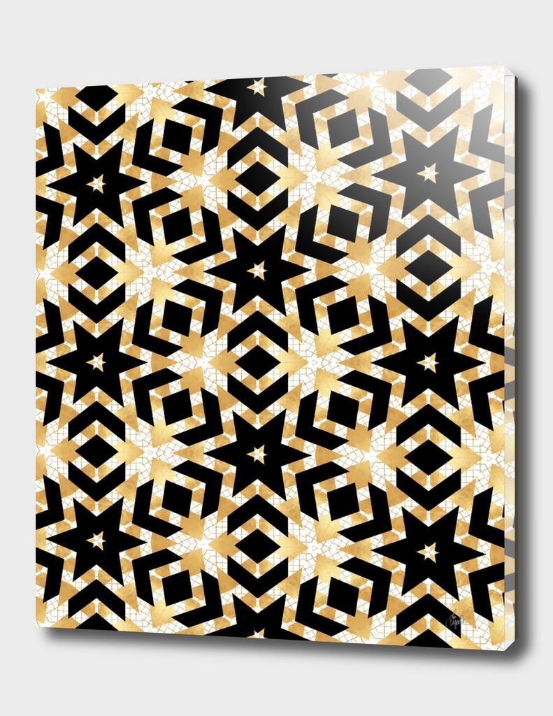 Art Deco Gold Foil Star Pattern