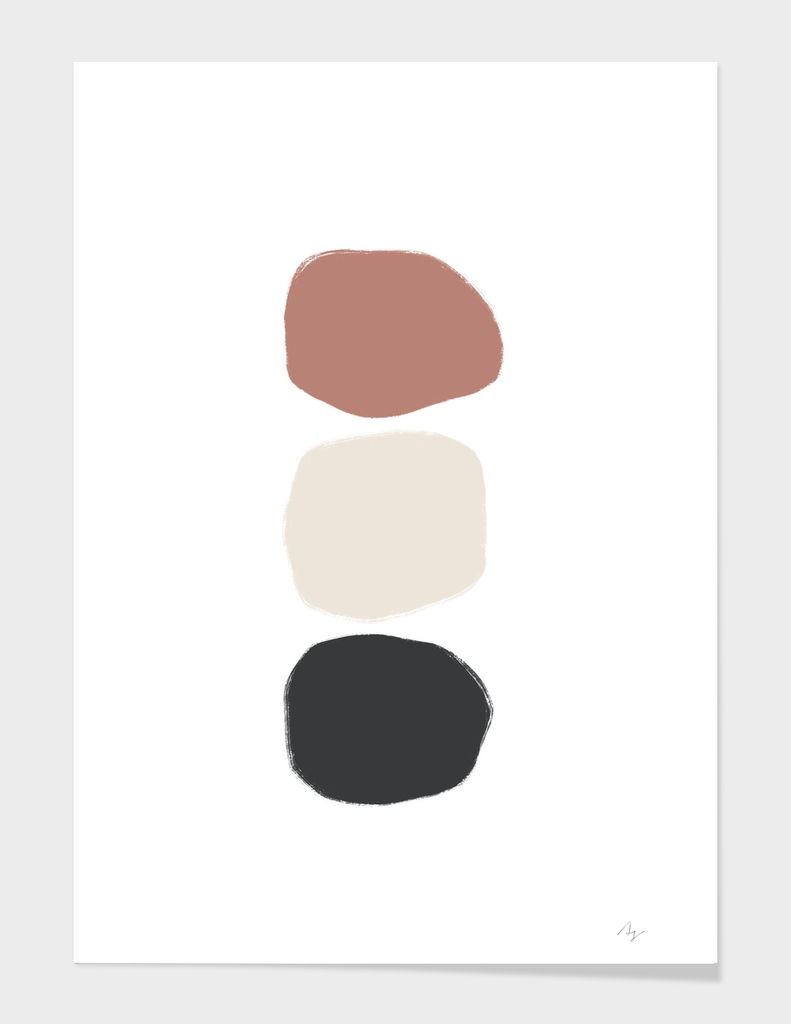 Three Stones - Colored