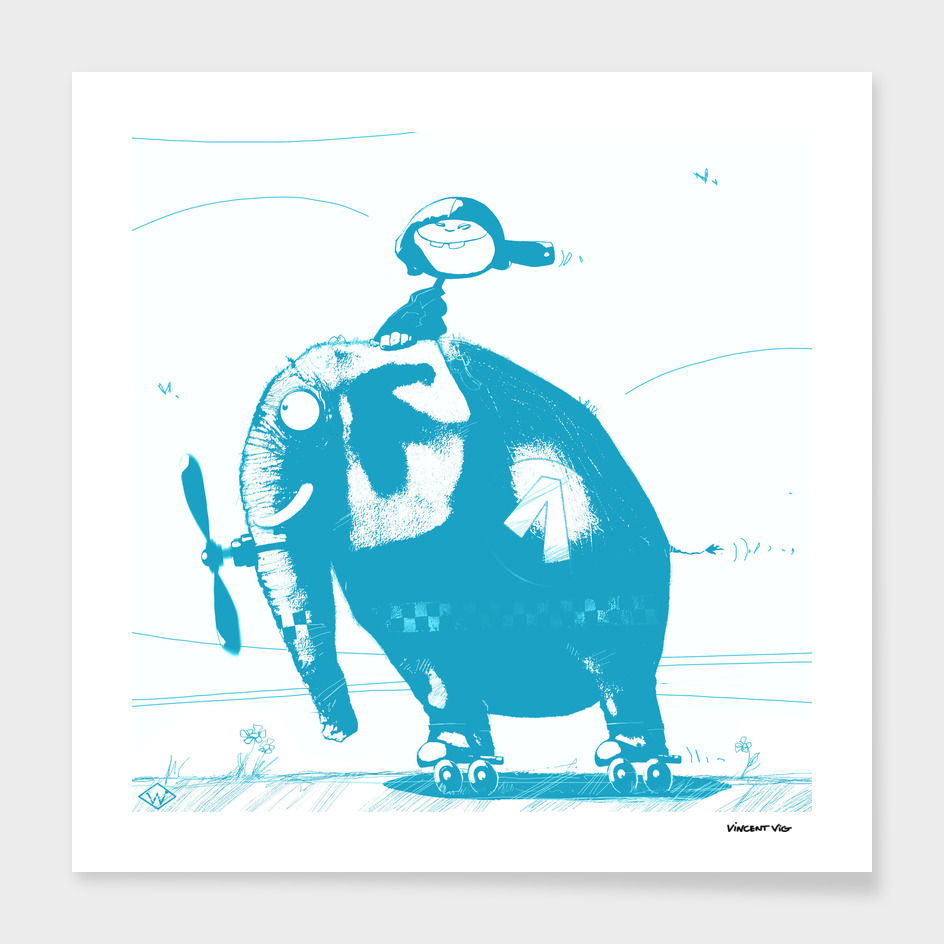 Elephant Car_BLUE