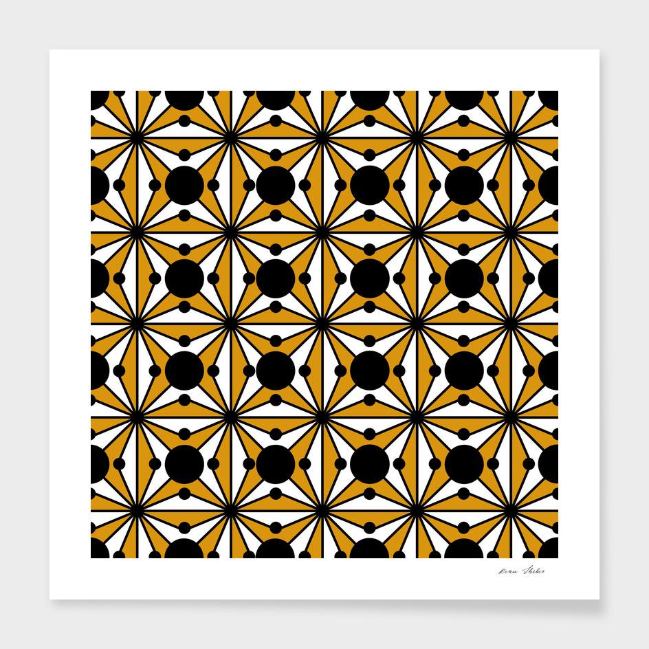 Abstract geometric pattern -bronze.