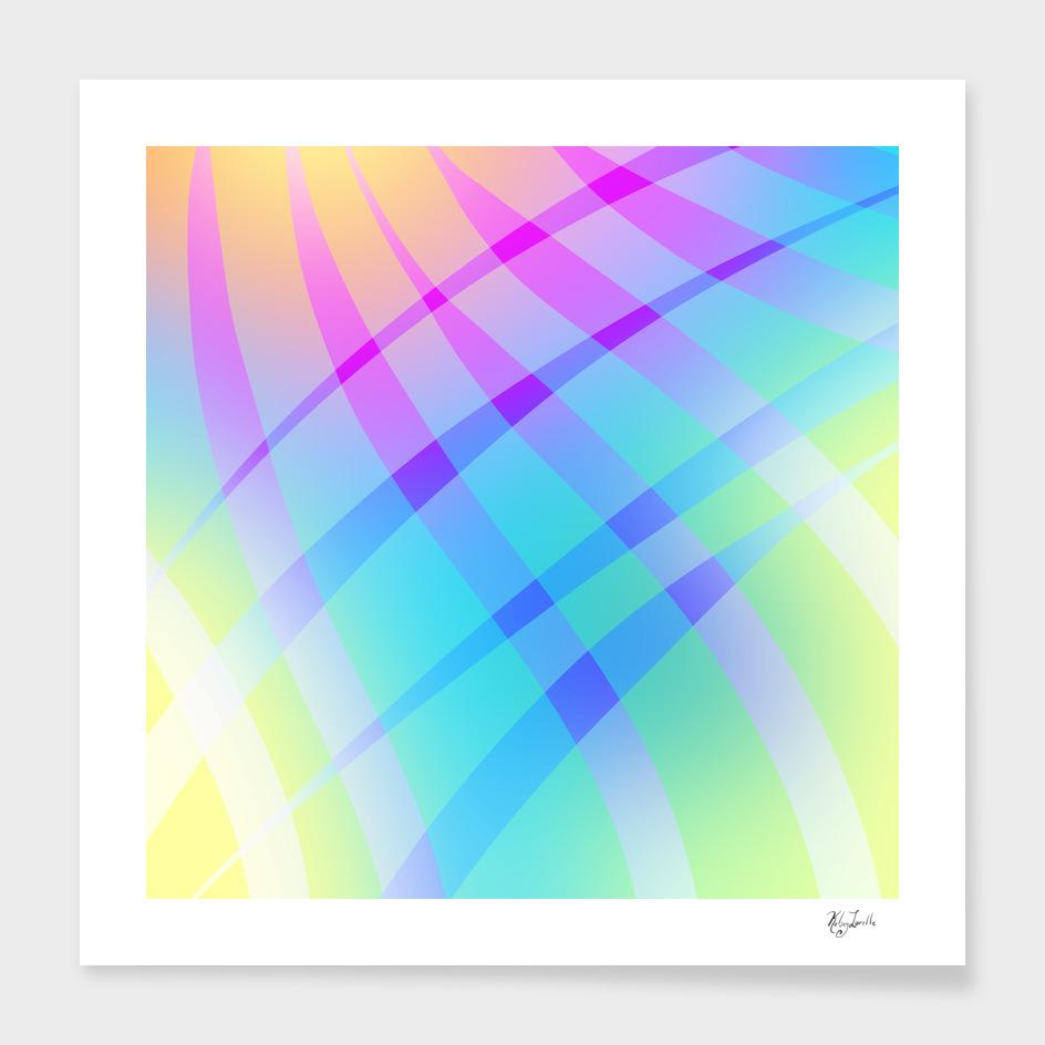 Pretty Colorful Unique Diagonal Plaid
