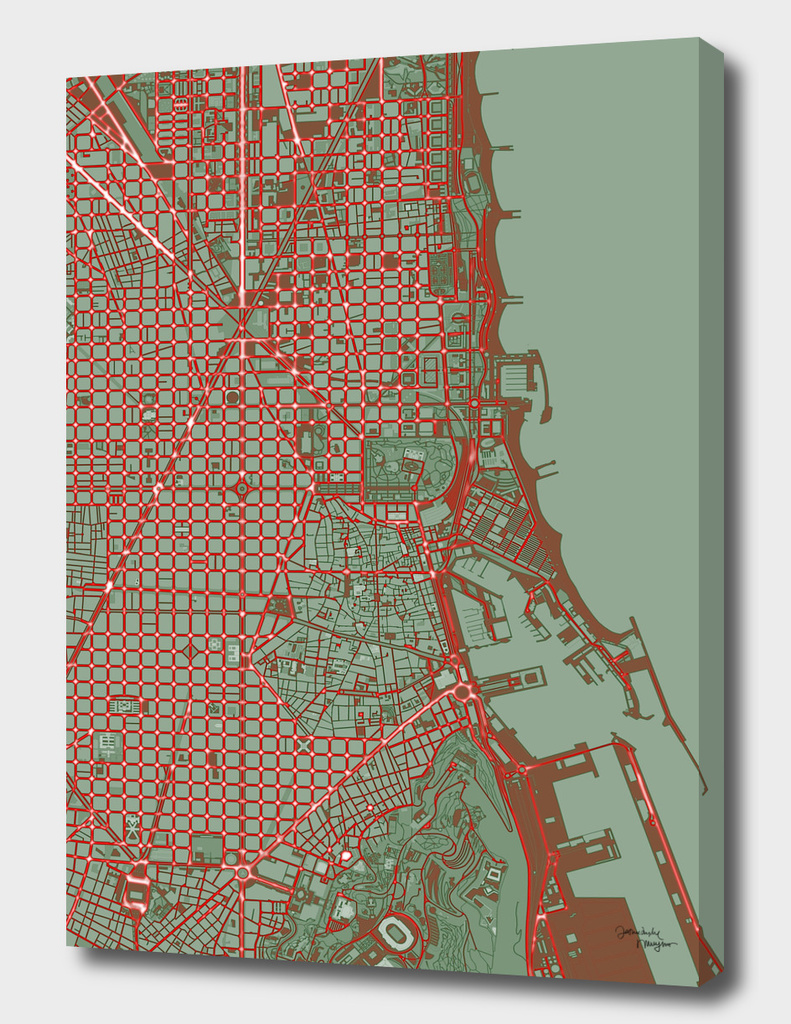 Barcelona city map pop