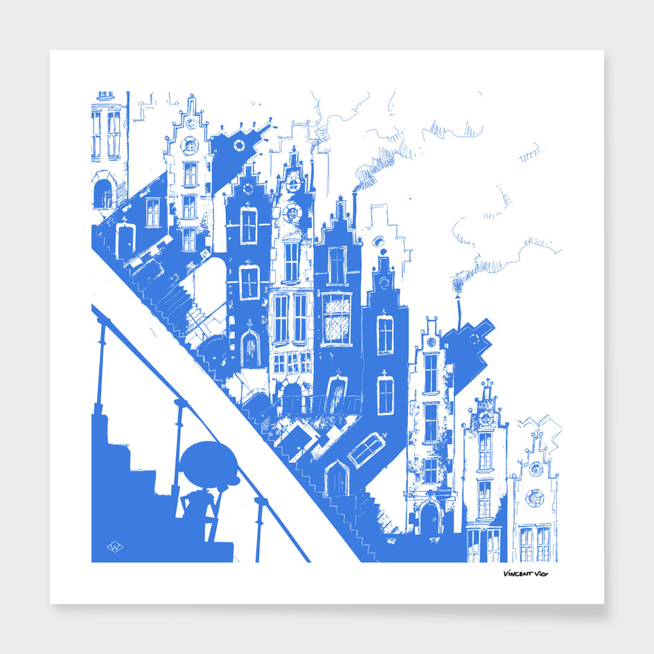 The Sloping City_Blue